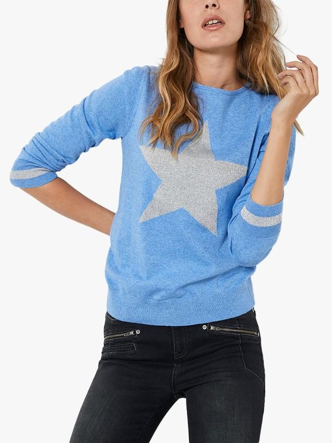Mint Velvet Star Jumper, Blue
