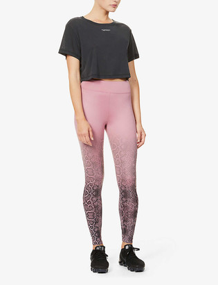 Koral Drive Scuba snake-print high-rise stretch-jersey leggings