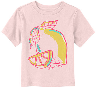 Fifth Sun Tee Shirts SOFT - Soft Pink Bold 'Lemon' Crewneck Tee - Toddler & Kids