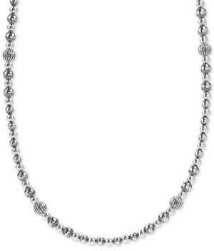 """American West Beaded Statement Necklace in Sterling Silver, 18"""" + 3"""" extender"""