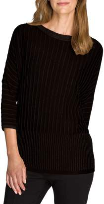 Olsen Glam Pintuck Cotton-Blend Sweater