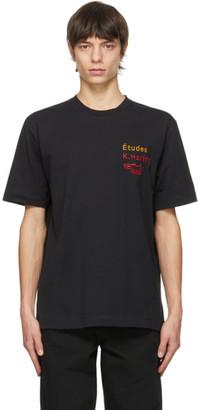 Études Black Keith Haring Edition Wonder Jumping Dogs T-Shirt