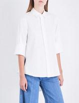 Miharayasuhiro Split-detail poplin shirt