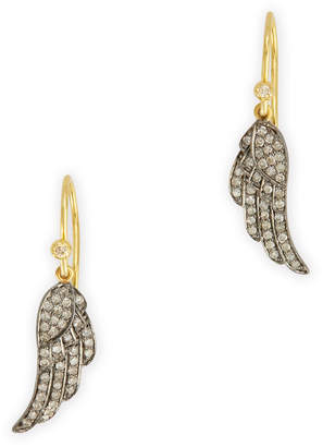 Kirstie Le Marque Pave Diamond Angel Wing Dangle Earrings