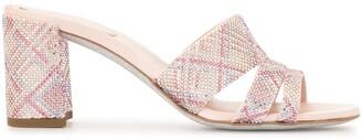 Rene Caovilla Studded Block Heel Sandals