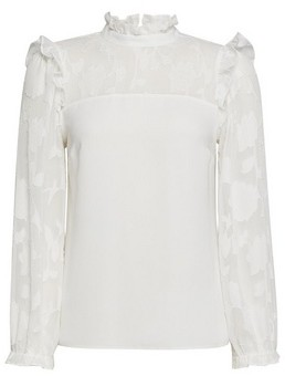 Dorothy Perkins Womens Dp Petite Ivory Burnout Long Sleeve Top, Ivory