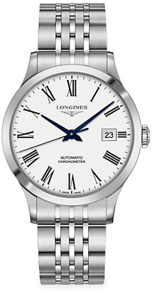 Longines Record 40MM Stainless Steel Automatic Bracelet Watch
