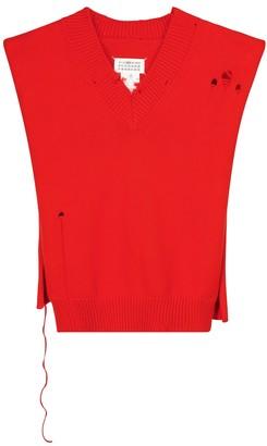Maison Margiela Distressed cotton vest