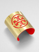 Tory Burch Patent Leather & Metal Logo Cuff