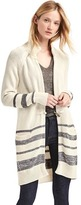 Gap Stripe toggle-front stripe long cardigan