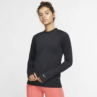 Nike Women's Long-Sleeve Crew Pro Warm