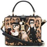 Dolce & Gabbana Leopard Print Document Box Bag