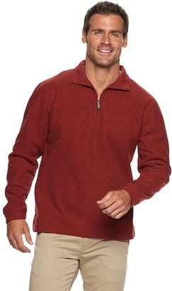 Haggar Men's Luxe Touch Quarter-Zip Fleece Pullover