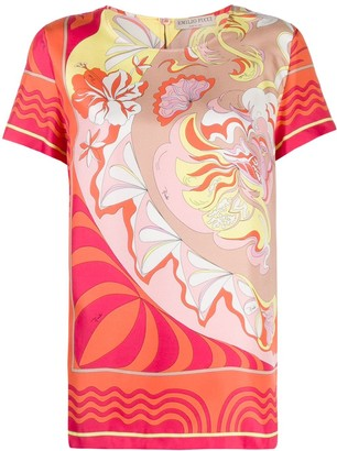 Emilio Pucci geometric print T-shirt