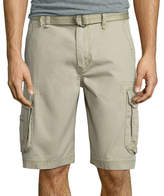 UNIONBAY Union Bay Survivor Belted Vintage Cotton Twill Cargo Shorts