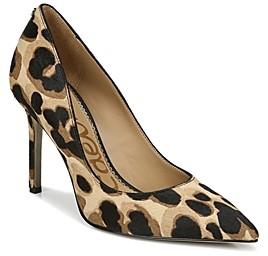 Sam Edelman Women's Hazel Leopard Print Calf Hair High Heel Pumps