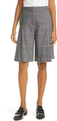 Rag & Bone Lani Pleated Wool Blend Skort