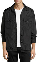 Rag & Bone Heath Nylon Shirt Jacket, Black