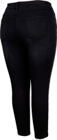 Melissa McCarthy Guardian Rhinestone-Leg Pencil Jeans - Plus