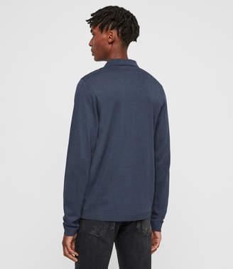 AllSaints Parlour Long Sleeve Polo Shirt