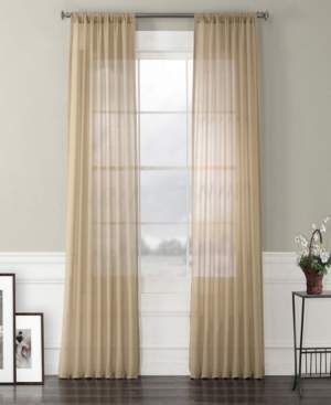 "Exclusive Fabrics & Furnishings Exclusive Fabrics Furnishings Faux Linen Sheer Curtain 120"" x 50"" Curtain Panel"