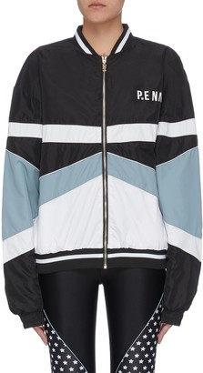 P.E Nation 'Dominion' reversible star print bomber jacket
