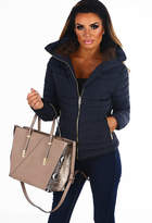 Pink Boutique Sweet Chic Navy Quilted Puffer Coat
