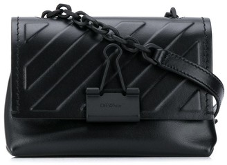 Off-White Diag Embossed Soft Small Bag Black No Co