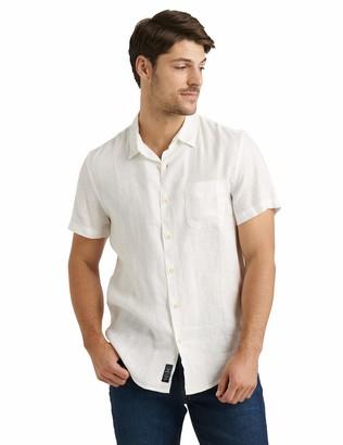 Lucky Brand Men's Short Sleeve Button Up One Pocket San Gabriel Shirt