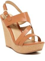 Elegant Footwear Jacey Platform Wedge Sandal