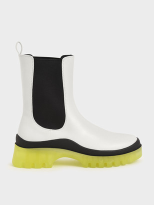 Charles & Keith Clear Sole Chelsea Boots