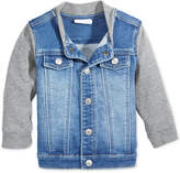 First Impressions Denim Bomber Jacket, Baby Boys, Created for Macy's