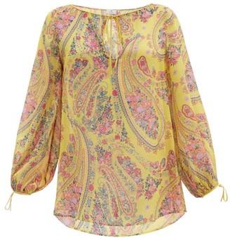 Etro Altai Paisley-print Silk-georgette Blouse - Yellow Multi