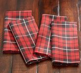 Pottery Barn Landon Plaid Napkin, Set of 4