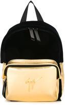 Giuseppe Junior - bicolour backpack - kids - Calf Leather/Velvet - One Size