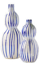 Twos Company Two'S Company Striped Bubble Vases - Set of 2
