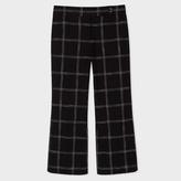 Paul Smith Women's Black Windowpane Check Oxford-Cotton Trousers