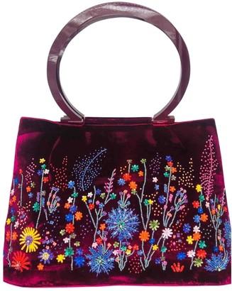 Salvatore Ferragamo Burgundy Velvet Handbags