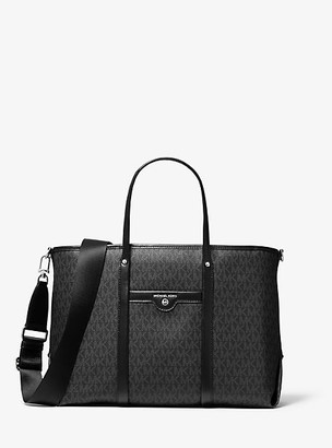 MICHAEL Michael Kors MK Beck Medium Logo Tote Bag - Black - Michael Kors