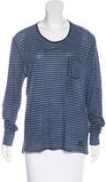 Burberry Striped Long Sleeve T-Shirt