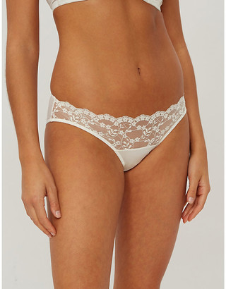KATHERINE HAMILTON Sophia lace and mesh briefs