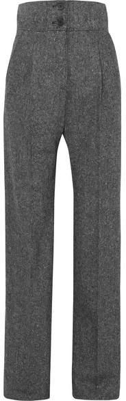 Antonio Berardi Wool-tweed Wide-leg Pants - Gray