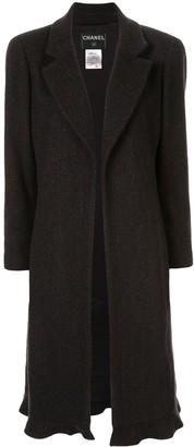 Chanel Pre Owned Cashmere Midi Open Coat