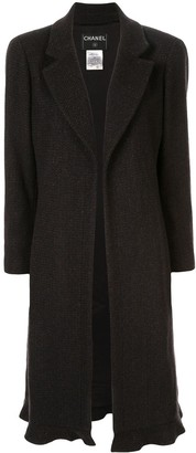 Chanel Pre Owned Cashmere Midi Open Coat