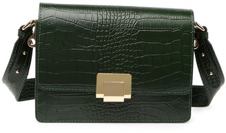 Persaman New York Alessandra Leather Python Print Shoulder Bag