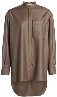 Agnona Wool Cashmere Flannel Shirt