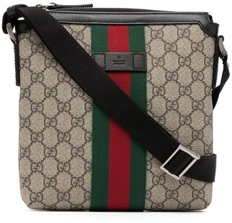 Gucci Pre-Owned monogram Sylvie Web detail crossbody bag