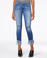 Flying Monkey Oceanside Ripped Fringe Jeans