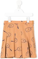 Bobo Choses tennis racket print pleated skirt - kids - Polyester - 4 yrs