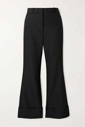 Joseph Tile Wool-blend Flared Pants - Black
